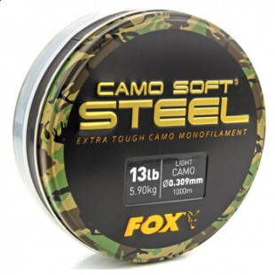 Fox Soft Steel Light Camo x 1000m 0.309mm 13lb/5.9