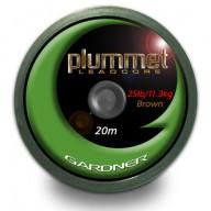 Gardner PLUMMET LEADCORE GREEN 20m 25 lb