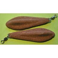 Ciężarek Listek 80 gr brązowy
