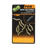 Fox Edges Line Aligner Hook Sz 6+ Trans Khaki x 10