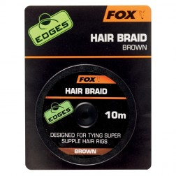 Fox Edges Hair braid x 10m brown CAC565