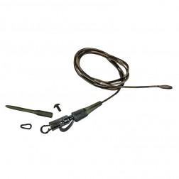 Prologic SAFETLY CLIP QC SWIVEL Hollow LEADER 80cm 45 lb 3pcs 50150