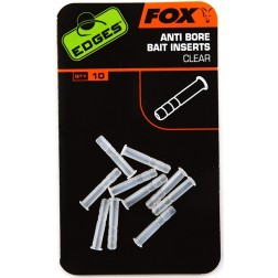 Fox Edges Anti-bore Bait Inserts Clear x 10 CAC539