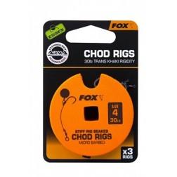 Fox Edges Stiff Chod Rigs Standard x3 30lb Size 4 CCR155