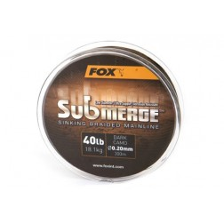 Fox Submerge Sinking Braided Mainline - Dark Camo 25lb 0,16 mm 300 m CBL008