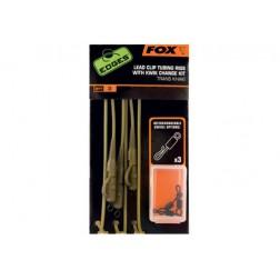 Fox EDGES™ Lead Clip Tubing Rig - Trans Khaki CAC579