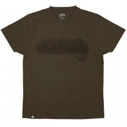 Fox Dark Khaki Scenic T Shirt S CPR393