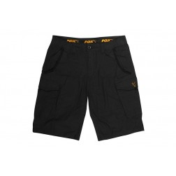 Fox Collection Black & Orange Combat Shorts S CCL139
