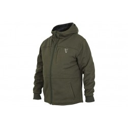Fox Collection Sherpa Hoody Green & Silver M CCL104