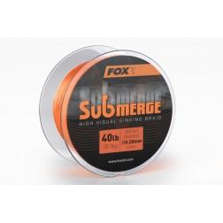 Fox Submerge High Visual Sinking Braid Bright Orange 40lb (18,1kg) - 0.20mm x 600m CBL023