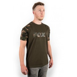 Fox Camo/Khaki Chest Print T-Shirt XXL CFX017