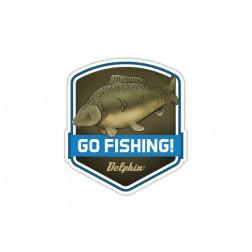 Delphin Naklejka GO FISHING!