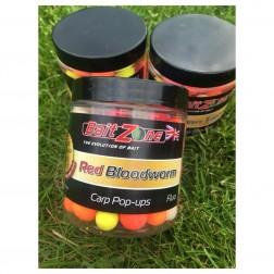 BaitZone Pop-Ups Fluo Red Blodworm 12-15mm BZRBFP250