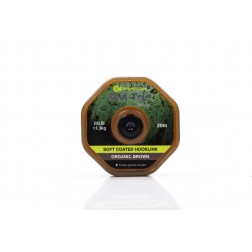 RidgeMonkey RM-Tec Soft Coated Hooklink 25lb Organic Brown RMT017