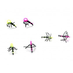PB Products Super Strong Zig Insects Yellow/Pink 4szt. nr10 ZESTAW DO ZIG RIG