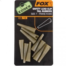 Fox Edges Lead Clips Tail Rubbers 10szt.