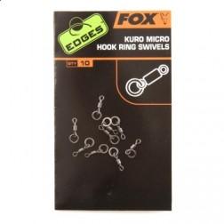 Fox Edges Kuro Micro Hook Ring Swivels 10szt.